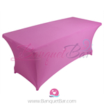 Pink stretch Rectangle Table Covers