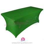Dark Green stretch Rectangle Table Covers