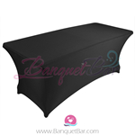 Black stretch Rectangle Table Covers