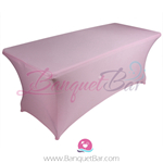 light-pink stretch Rectangle Table Covers