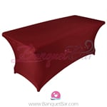 Burgundy stretch Rectangle Table Covers
