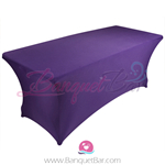 Cadbury-Purple stretch Rectangle Table Covers