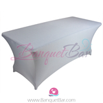 Silver-grey stretch Rectangle Table Covers