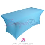 Sky blue stretch Rectangle Table Covers