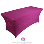 fuchsin stretch Rectangle Table Covers