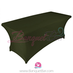 blackish-green stretch Rectangle Table Covers