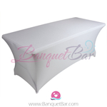 ivory stretch Rectangle Table Covers
