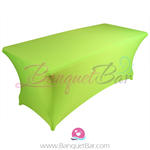 lime-green stretch Rectangle Table Covers