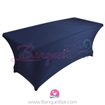navy-blue stretch Rectangle Table Covers