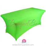 light-green stretch Rectangle Table Covers
