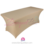 dark-champagne stretch Rectangle Table Covers