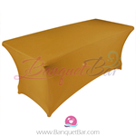 dark-golden stretch Rectangle Table Covers