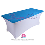 Blue stretch Rectangle Table Topper