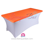 Orange stretch Rectangle Table Topper