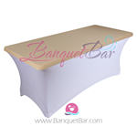 dark-champagne stretch Rectangle Table Topper