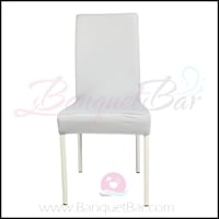 silver-grey spandex half banquet chair covers, stretch lycra for