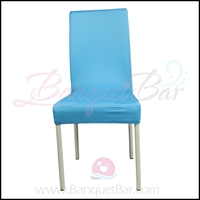 skyblue spandex half banquet chair covers, stretch lycra for wed