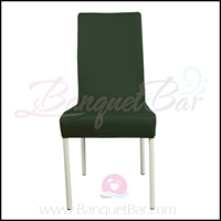 blackish-green spandex half banquet chair covers, stretch lycra