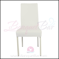 ivory spandex half banquet chair covers,stretch lycra for weddin