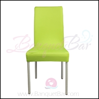 lime-green spandex half banquet chair covers,stretch lycra for w