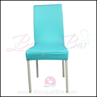 tiffany-blue spandex half banquet chair covers,stretch lycra for