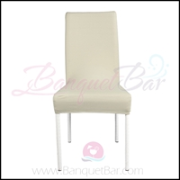 light-champange spandex half banquet chair covers,stretch lycra