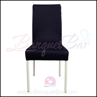 navy-blue spandex half banquet chair covers,stretch lycra for we