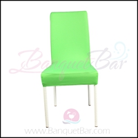 light-green spandex half banquet chair covers,stretch lycra for