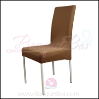 coffee spandex half banquet chair covers,stretch lycra for weddi
