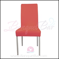watermelon-red spandex half banquet chair covers,stretch lycra f