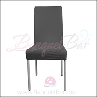 dark-grey spandex half banquet chair covers,stretch lycra for we
