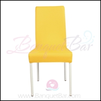 Yellow spandex half banquet chair covers, Yellow stretch lycra f