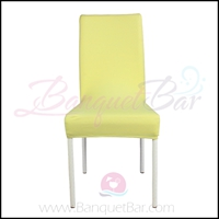 light-yellow spandex half banquet chair covers,stretch lycra for