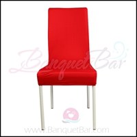 red spandex half banquet chair covers,Bright-Red stretch lycra f