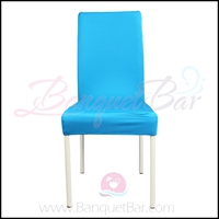 blue spandex half banquet chair covers, blue stretch lycra for w