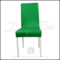Dark-Green spandex half banquet chair covers, Wedding stretch ly
