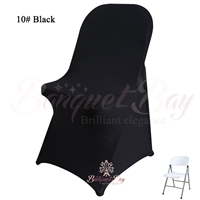 Black spandex folding chair covers, Wedding stretch lycra for we