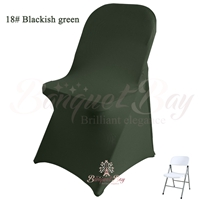 blackish-green spandex folding chair covers, stretch lycra for w