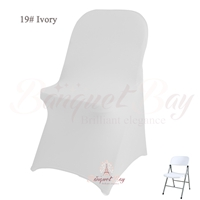 ivory spandex folding chair covers,stretch lycra for wedding ban