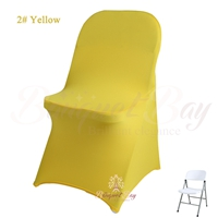 Yellow spandex folding chair covers, Yellow stretch lycra for we