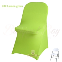 lime-green spandex folding chair covers,stretch lycra for weddin