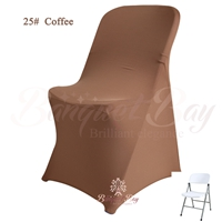 coffee spandex folding chair covers,stretch lycra for wedding ba