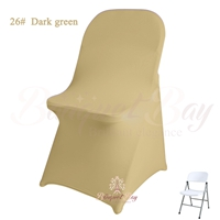 dark-champagne spandex folding chair covers,stretch lycra for we