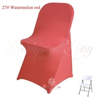 watermelon-red spandex folding chair covers,stretch lycra for we