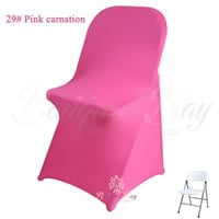 pink carnation spandex folding chair covers,stretch lycra