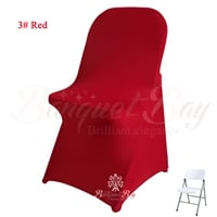 red spandex folding chair covers,Bright-Red stretch lycra for we