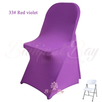 red violet spandex folding chair covers,stretch lycra for weddi