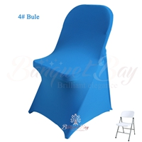 blue spandex folding chair covers, blue stretch lycra for weddin
