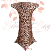 spandex stretch Leopard cocktail table covers Animal Printted