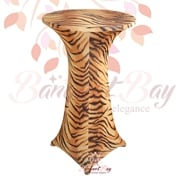 Tiger pattern Printted spandex cocktail table covers tableclothe